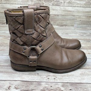 Frye Phillip Woven Harness Riding Ankle Boots 8.5
